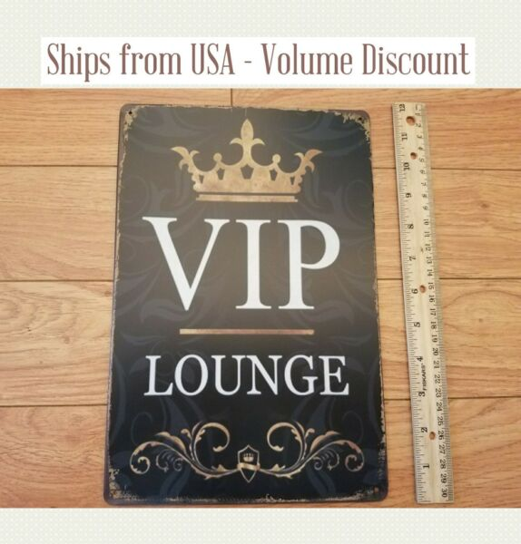 VIP Lounge Sign VIP Sign Metal VIP Sign Tin VIP Sign VIP Area College Dorm Sign