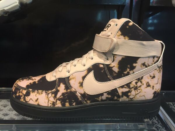 Nike Air Force 1 One High '07 Acid Wash Practical Beige Black Sz 8-13 New DS