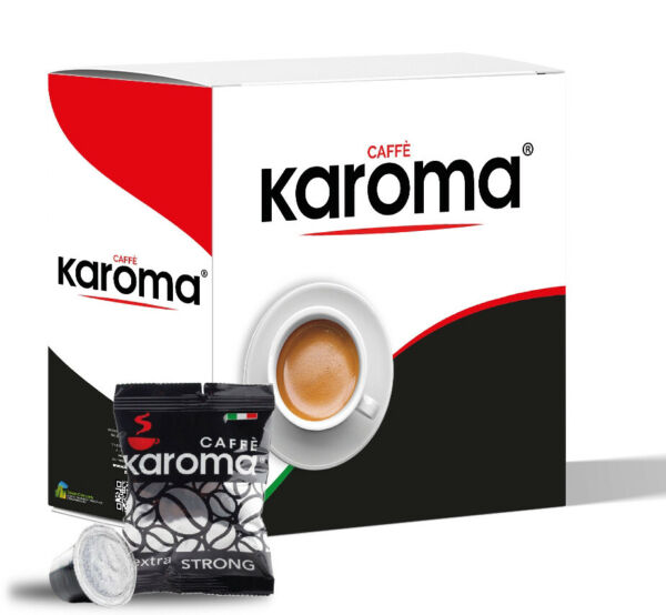 200 Capsules Compatible Nespresso machines Extra Strong New Karoma