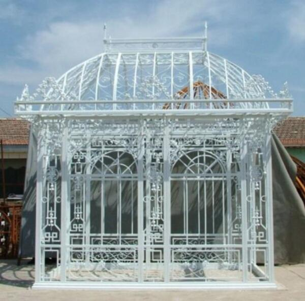 TUBULAR ESTATE HAND MADE CUSTOM IRON GAZEBO SOLARIUM GREENHOUSE #G27