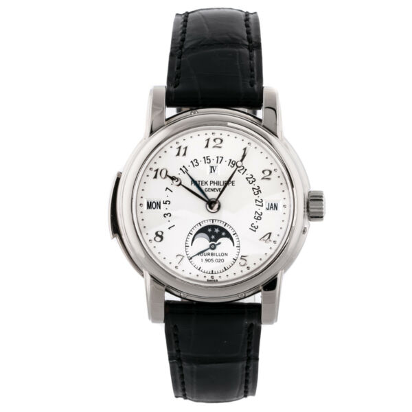 Patek Philippe Grand Complications Calendar Manual Gold Mens Strap Watch 5016G