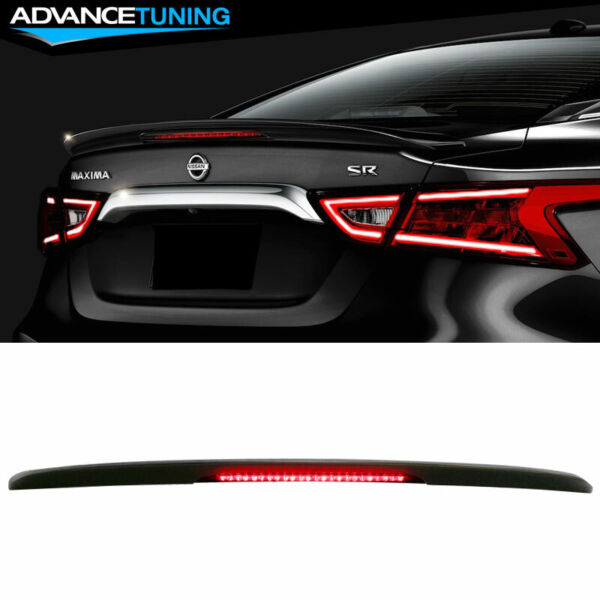 Fit 16-20 Nissan Maxima Factory Sport SR Trunk Spoiler With LED Brake Light