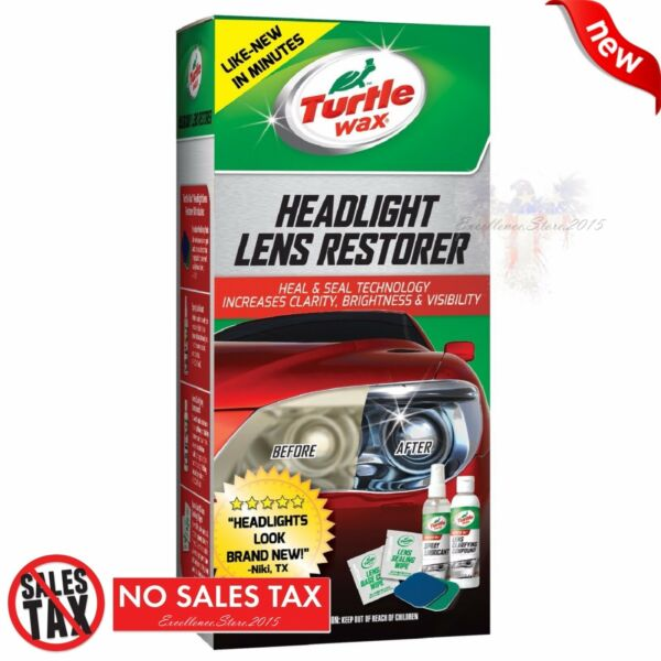 2 Pack Turtle Wax T240KT Car Headlight Lens Restoration Restorer Clean Full Kit