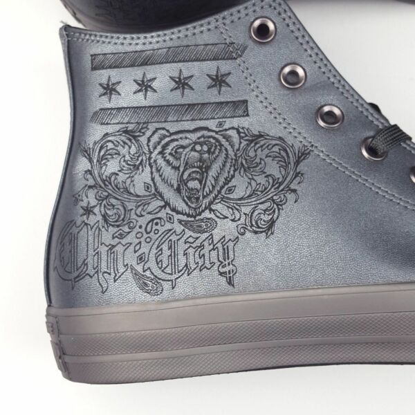 Converse Chuck Taylor ALL Star Hi Sneakers Chi Town Chicago, Grey Leather 156456