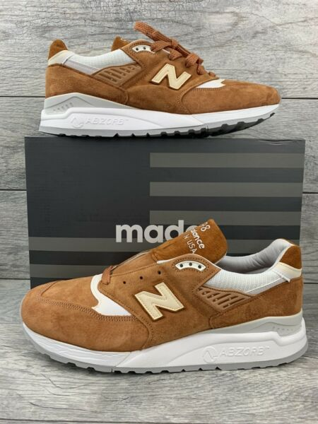 New Balance 998 Made In USA Men's Size 11.5 Curry Brown White M998TCC