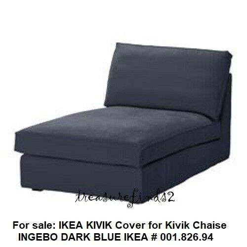 Ikea KIVIK Chaise Lounge Cover Ingebo Dark Blue Slipcover 001.826.94 NEW Sealed $169.00