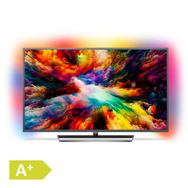 Philips 139cm 55 Zoll 4K Ultra HD LED Fernseher 3fach Ambilight HDR Android TV; EEK A