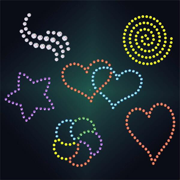 6x Small Rhinestone Stencils Reusable Wall Furniture Fabric Painting Template $19.22