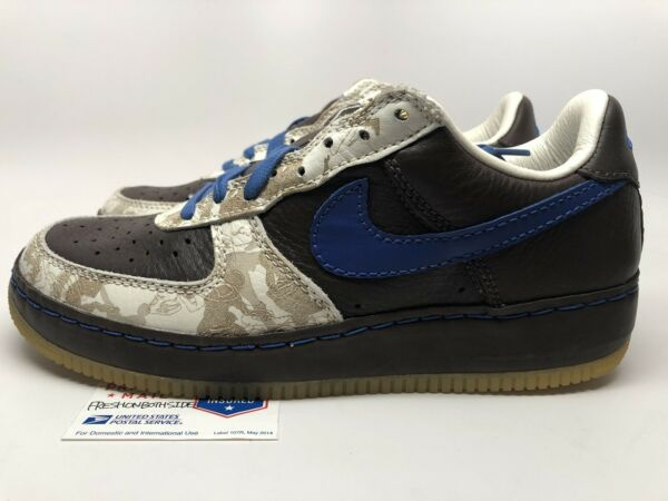 "Nike Air Force 1 One ""inside out"" uptown Atmos Soccer Football Mens sz 9.5 New!"