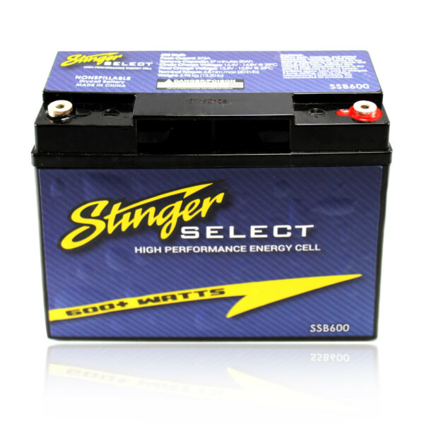 Stinger Select SSB600 Secondary Battery Dry Cell 600/Watts Car Audio Performance
