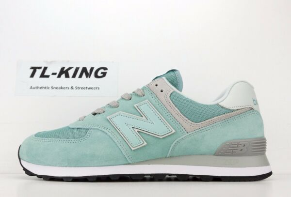 New Balance ML574ESB 574 Essential Pack Storm Blue White Classic Sneaker $80 Fx