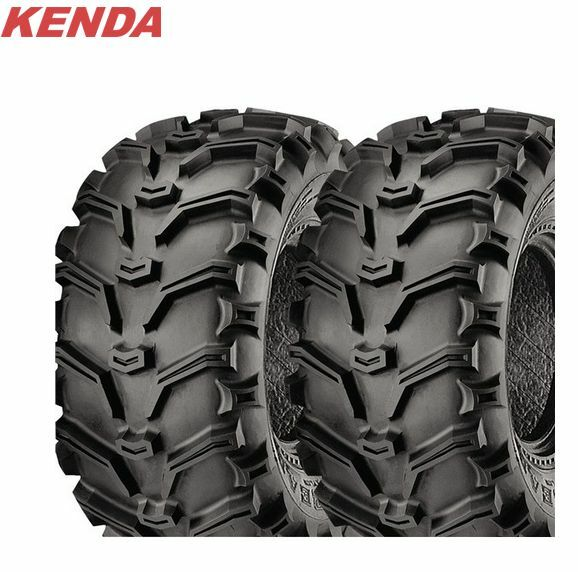 KENDA 6 PLY Bear Claw 25x8-12 ATV Tire Set of 2 TIRES 25x8x12 Pair Bearclaw