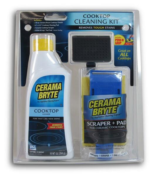 Cooktop Cleaning Stove Cook Top Glass Cleaner Pad Scraper Kit Household Cleaning