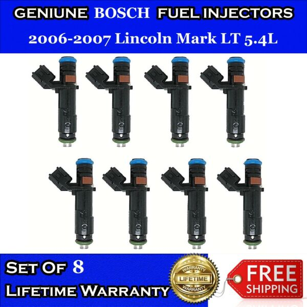UPGRADED 4HOLE OEM Bosch 8x Fuel Injectors for 2006 2007 Lincoln Mark LT 5.4L