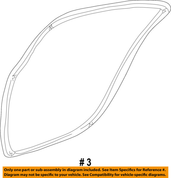 CHRYSLER OEM Rear Door-Weatherstrip Seal on Body Right WR32TL2AB