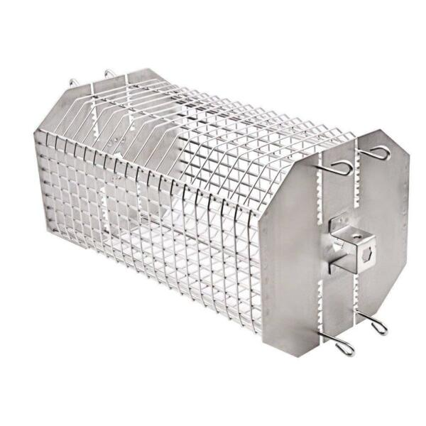 Onlyfire Universal Octagonal Tumble Flat Basket Rotisserie Grill Spit Rod Basket