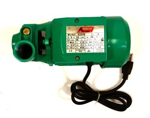 1 2h.p Electric Water Removal Pump Heayduty Compact Water Pump Water Transfer $59.99