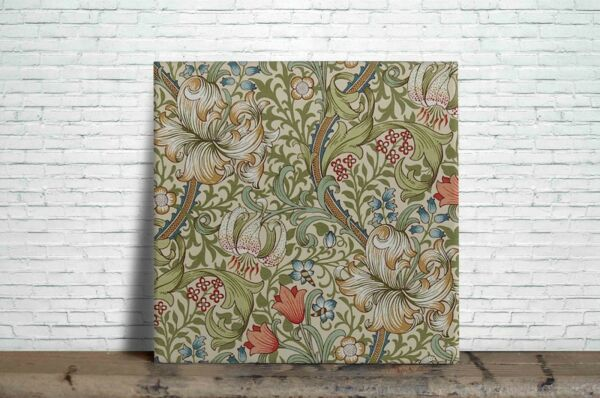William Morris Reproduction Decorative Ceramic wall tile Fireplace kitchens 12