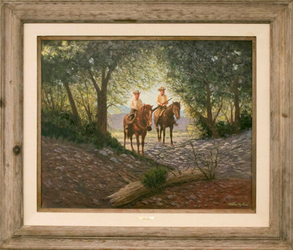 Willis M. Rue (1908-1991) Large Oil On Canvas Painting Signed Title
