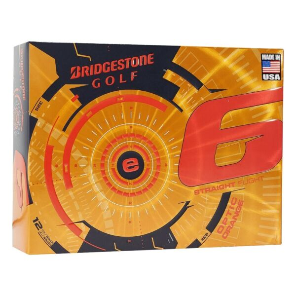 NEW Bridgestone e6 Straight Flight Golf Balls Optic Orange - Pick the Quantity!!