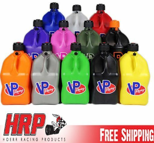 VP Racing Fuel Jugs Square 5 Gallon (Specify # Hose & Color) Gas Can