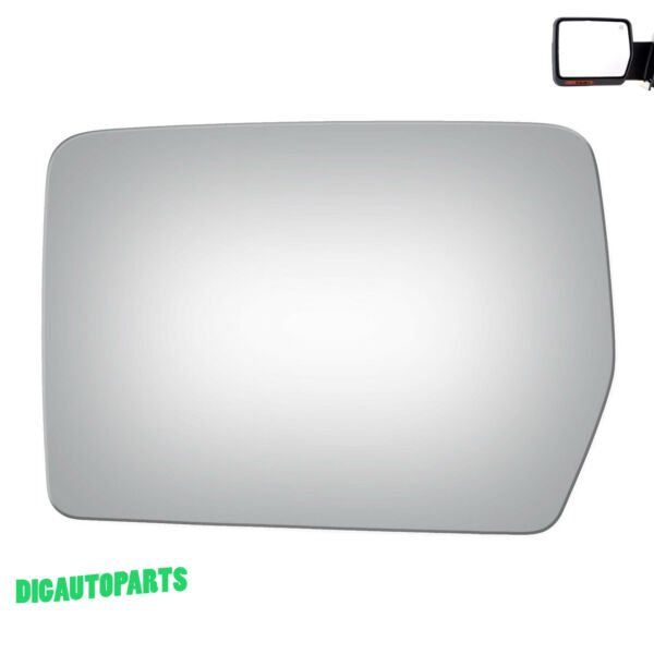 Replacement Mirror Glass for 04-10 Ford F-150 Pickup Truck Driver Left Side LH