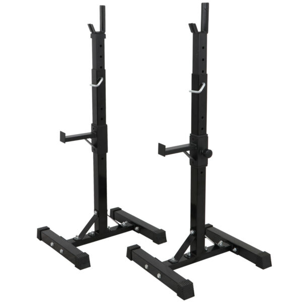 2pcs Gym Fitness Adjustable Squat Rack Bench Press Weight Lifting Barbell Stand $96.99