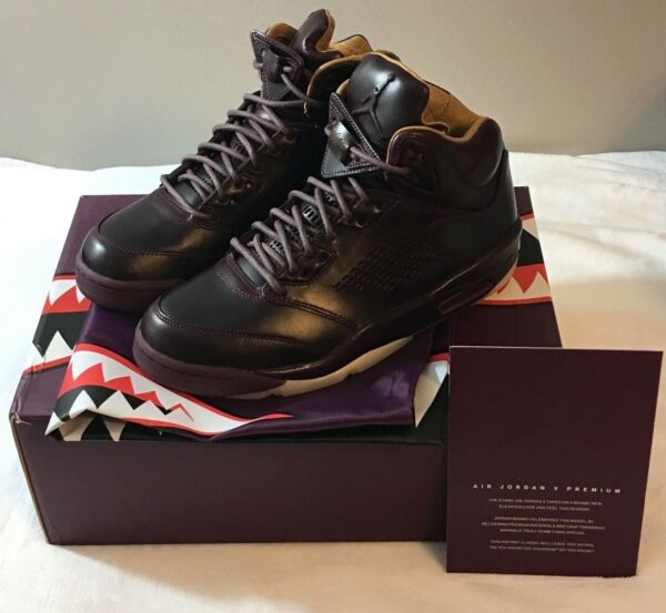 Air Jordan 5 V Retro Premium Bordeaux Wine Pinnacle Men's 881432-612 Size 8