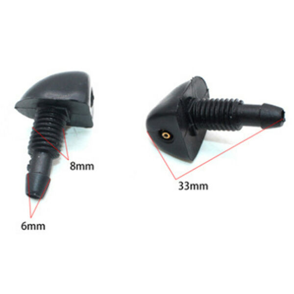 2 x Universal Car Front Windshield Washer Wiper Water Spray Nozzle Cleaning Kit