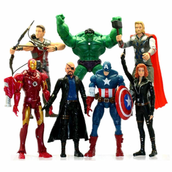 7PCS-Avengers-Action Figures Toys Hulk-Captain-America-Iron-Man -Thor Gifts