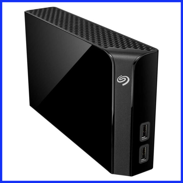 Seagate Backup Plus Hub 8TB Desktop Hard Drive with Rescue Data Recovery Service