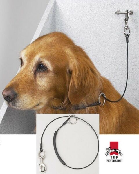 36quot; Top Performance HEAVY DUTY CABLE GROOMING CHOKER LOOP for Dog Table ArmBath $15.99