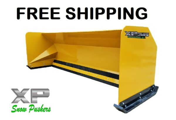 10' XP36 Snow pusher boxes backhoe loader Express Steel FREE SHIPPING-RTR