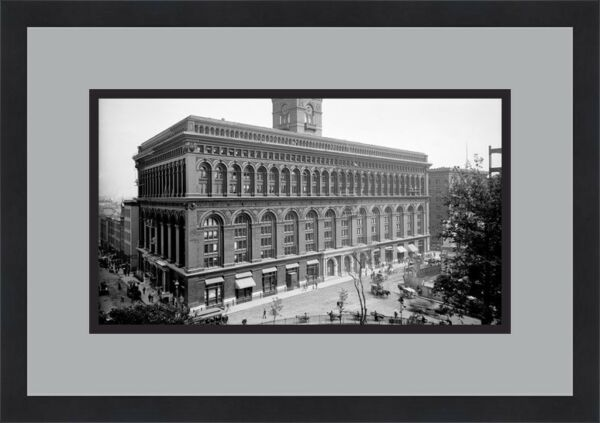 New York Produce Exchange Building Late 1800's  Custom Framed FREE SHIPPING