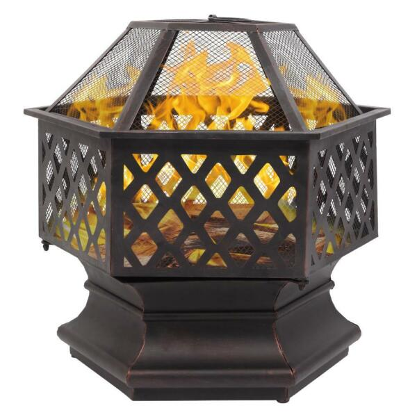 Wood Burning Fire Pit Outdoor Heater Backyard Patio Stove Fireplace Backyard