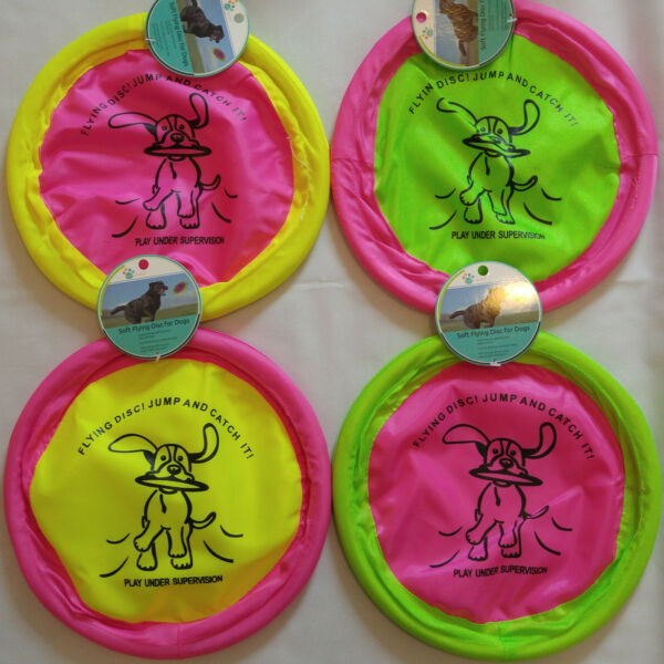 SOFT FLYING DISC FRISBEE DOG TOY 10