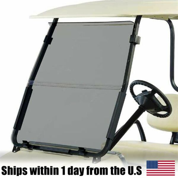 Club Car DS Tinted Fold Down Acrylic Windshield 2000.5 - Up Golf Cart