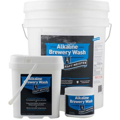Craft Meister Alkaline Brewery Wash - Safe for use with Beer Brewing Keg Cleaner
