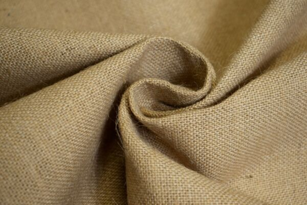 Burlap Jute Fabric Natural Beige 60quot; Wide 11 Oz. Premium Washed Upholstery BTY