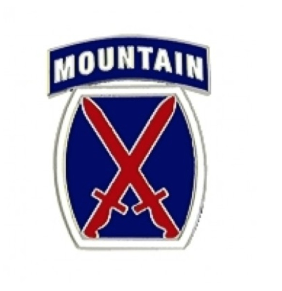 Army 10th Mountain Division Pin - 15391 (1 inch) Licensed HMC Honors