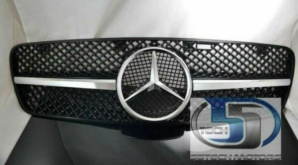 W203 Grill Grille C230 C320 C280 C220 C32  Mercedes Benz 1 Fin Style NEW Black