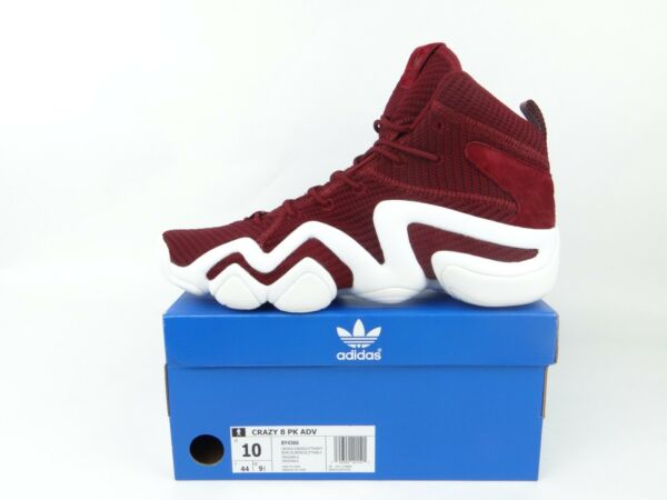 adidas Crazy 8 Primeknit ADV Men's 10 Collegiate Burgundy Red White PK BY4366
