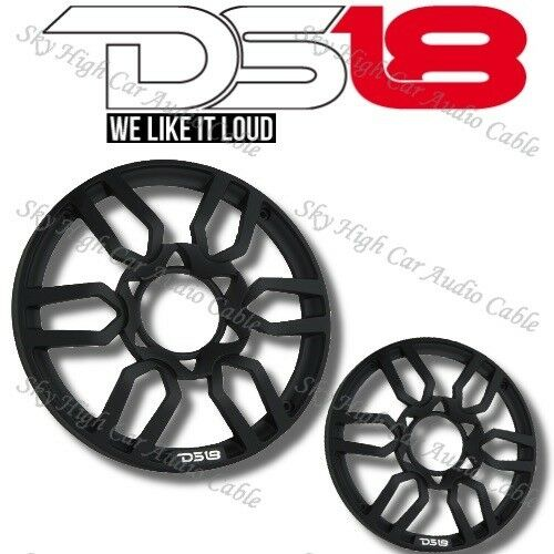 DS18 PRO Universal 10quot; Inch Plastic Speaker Grill Cover Black Set of 2