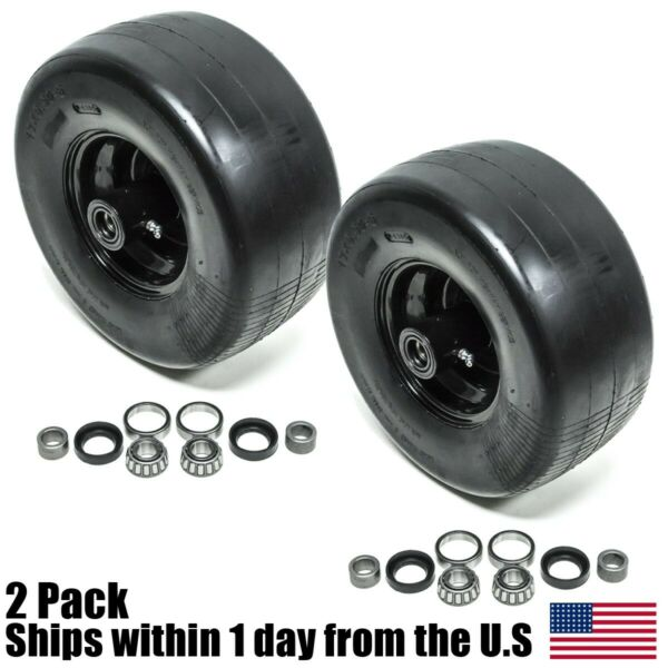 2PK Front Solid Caster Wheel Tire Flat Free 13X6.5 6 Fits Toro Z Master 633971