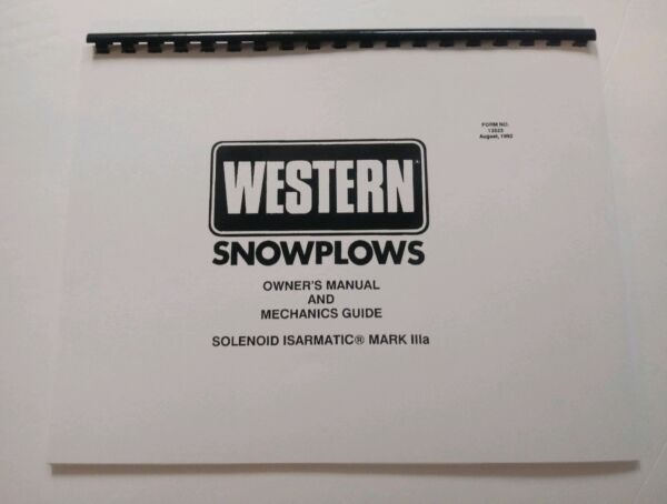Western Snow Plow ** Solenoid Controlled ** Isarnatic Mark IIIa Service Manual