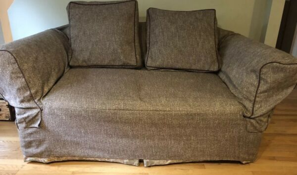 """Surefit Loveseat Slipcover 3 Piece Taupe Brown 58"""" to 73"""" Wide Fit $49.99"""