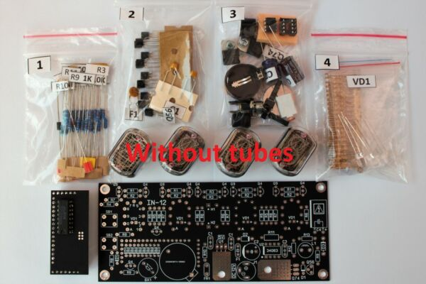 Nixie Tube clock KIT IN 12 WITH TUBES