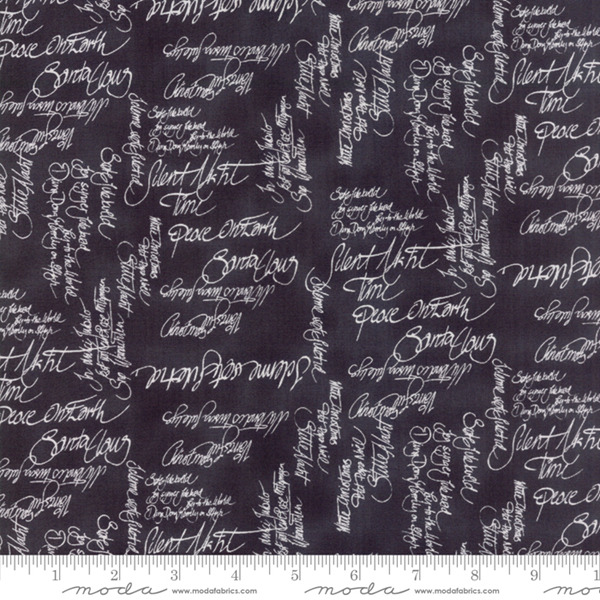 Sno by Hatling Black White Words 39720 20 Moda Fabric Christmas by the 1 2 yard
