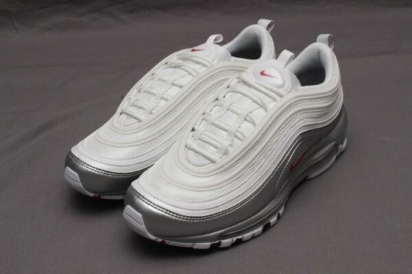 NIKE AIR MAX 97 QS - WHITE/VARSITY RED AT5458-100 METAL PACK