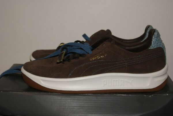 Mens Puma GV Special Suede Brown Snakeskin Leather Shoes Sz 6.5 or 7 or 8